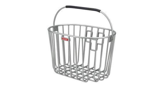 KlickFix Alumino Koszyk rowerowy srebrny